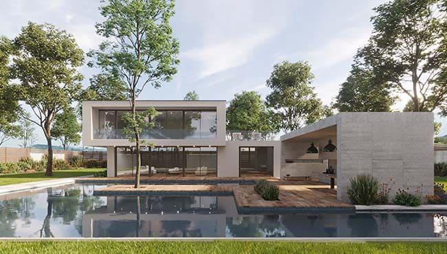 3D Visualisierung - Die Villa 1