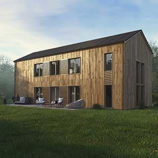 3D Visualisierung - Holzhaus Aussen